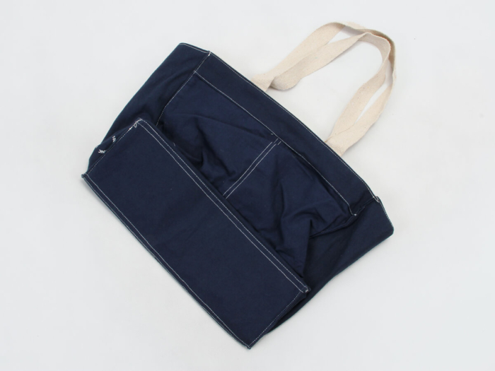 Denim Canvas Tote Bags Bottom Detail