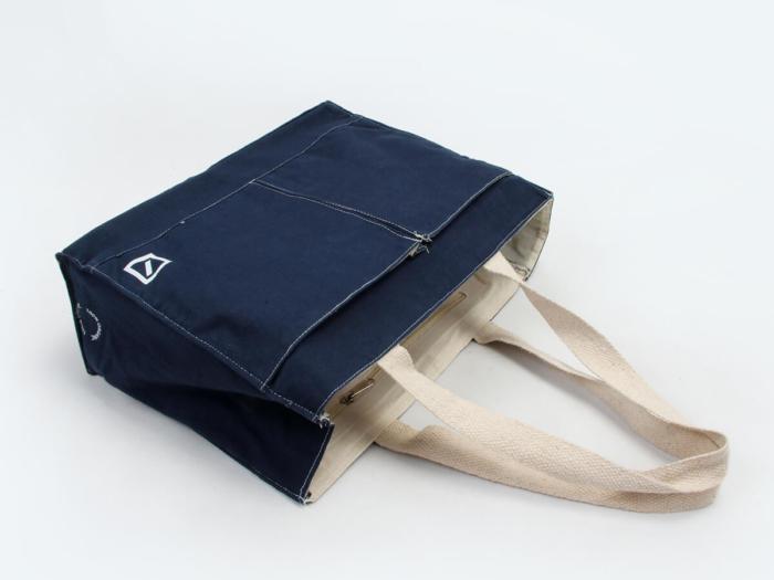 Denim Canvas Tote Bags Hand Detail