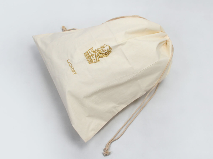 ECO-friendly Cotton Laundry Bags Logo Printed