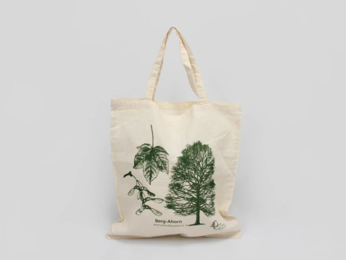 ECO-friendly Cotton Tote Bags With Forest Printed