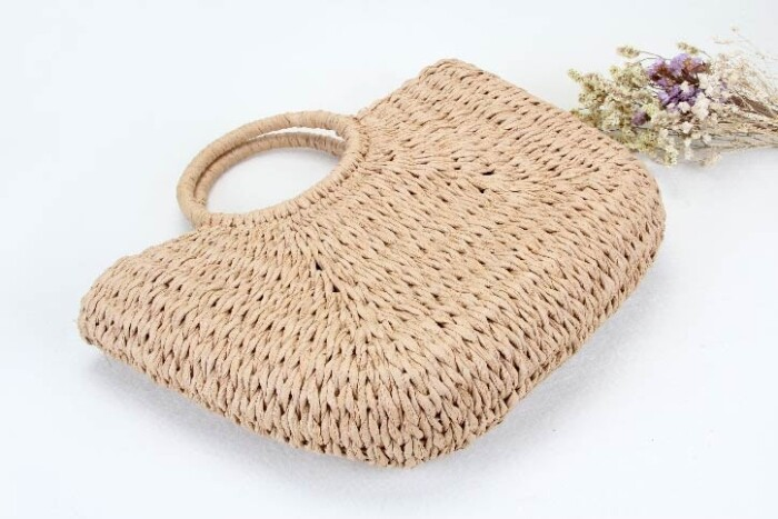 ECO-friendly Paper Woven Beach Bags base