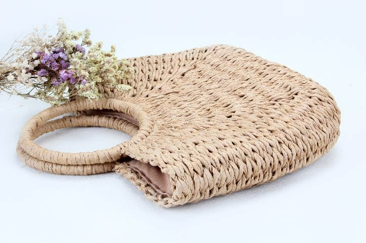 ECO-friendly Paper Woven Beach Bags side
