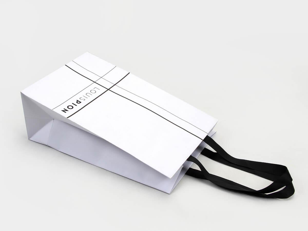 Elegant Snow White Gift Paper Bags Handle