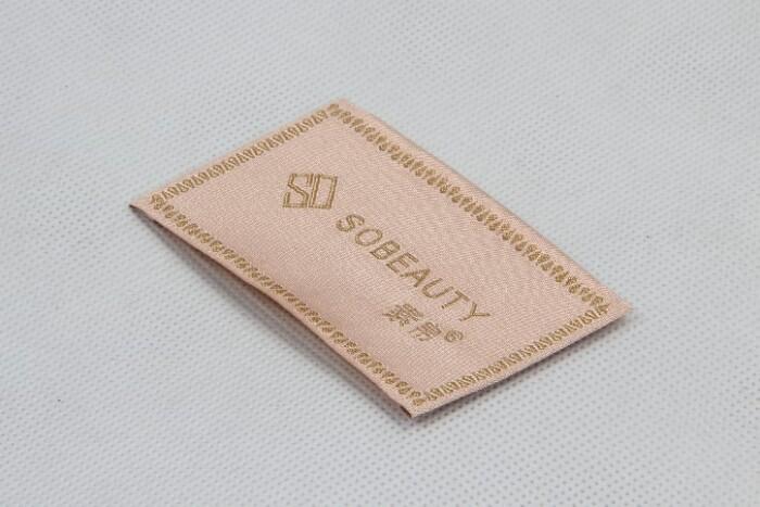 Elegant Woven Neck Labels For Women's Wear side