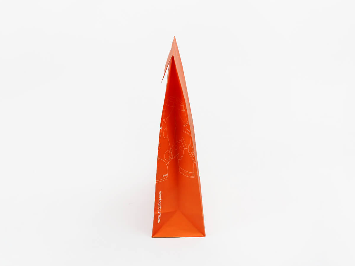 Envelope Orange Garment Paper Bags Corner Detail