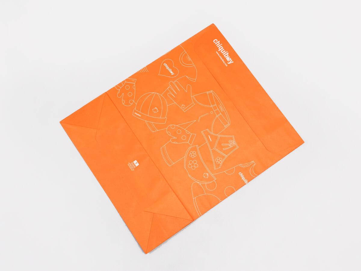 Envelope Orange Garment Paper Bags Printed Detail