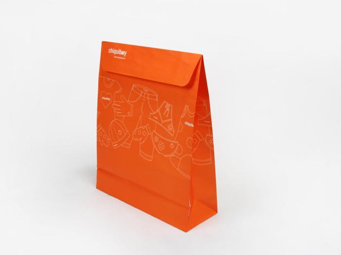 Envelope Orange Garment Paper Bags Size Display