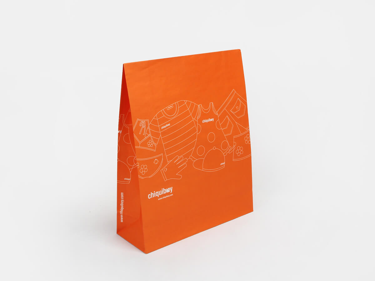 Envelope Orange Garment Paper Bags