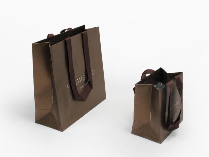 Fantastic Iridescent Garment Shopping Paper Bags Display