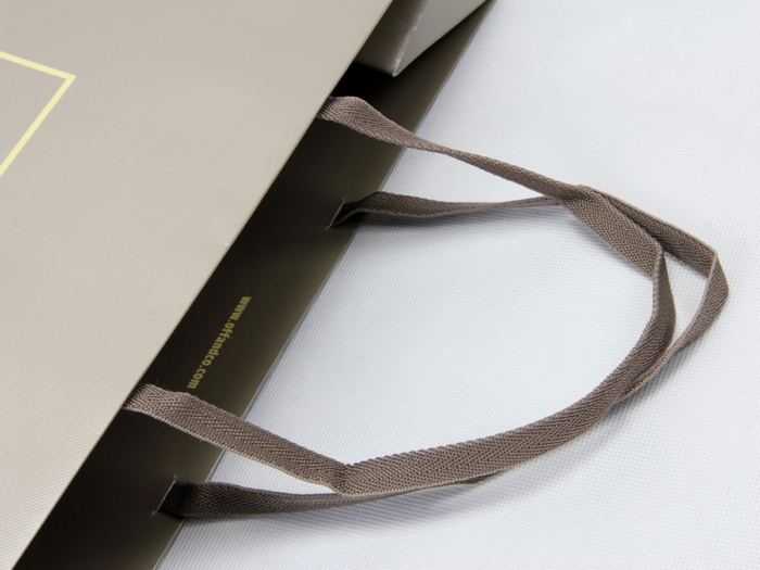 Fashion Accessories Store Shopping Paper Bags Ribbon Detail