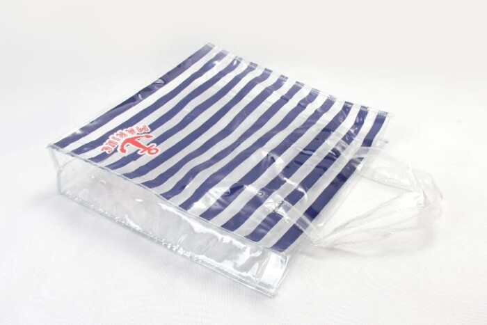Fashion Horizontal Stripes Waterproof PVC Tote Bags Style