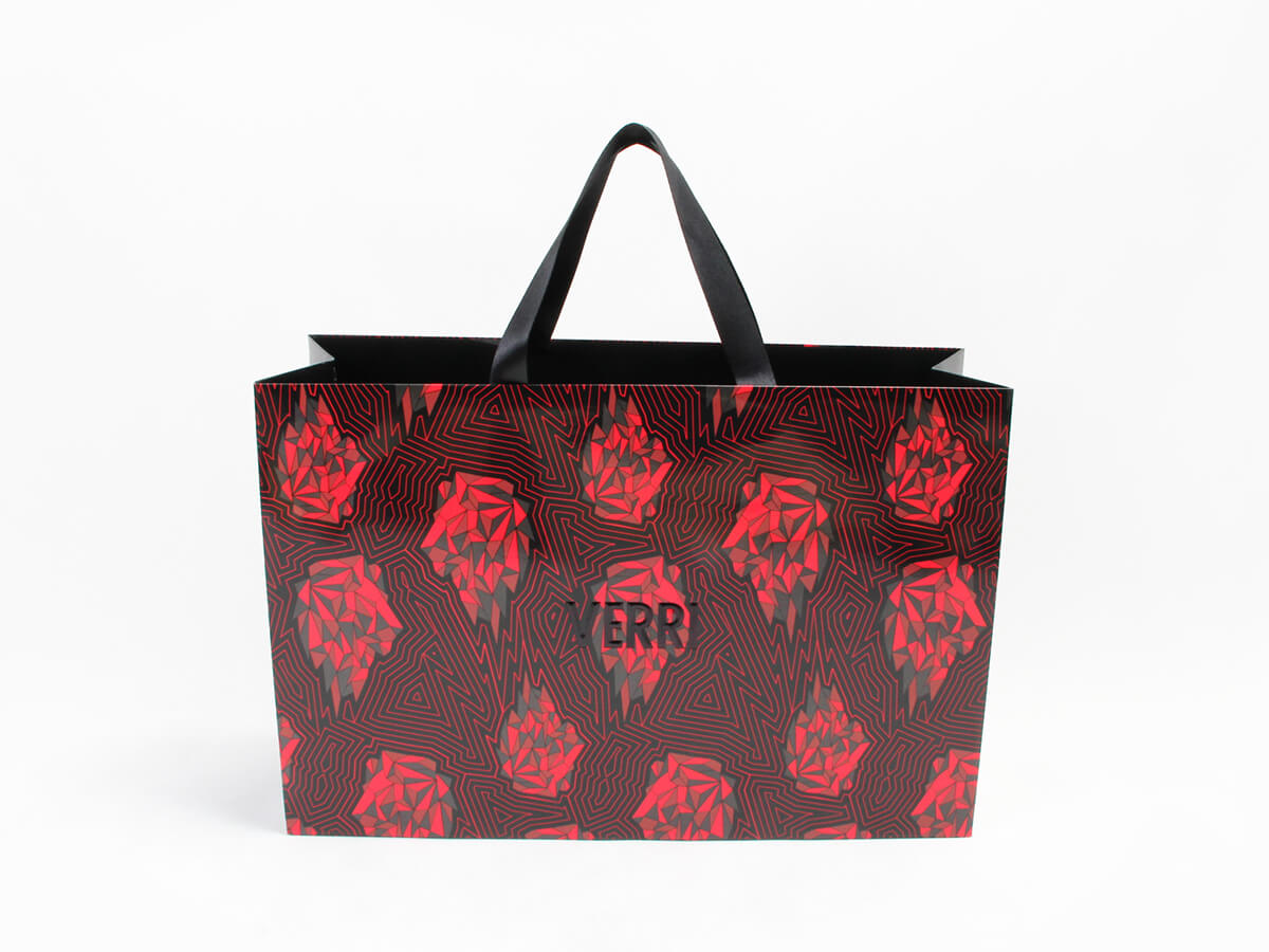 Flames Red Fashion Clothing Shopping Bags Material