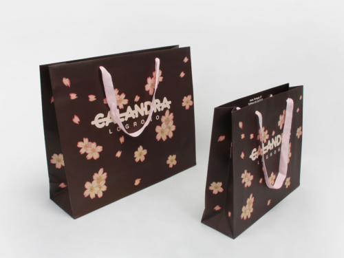 Flowers Women Garment Paper Bags Set
