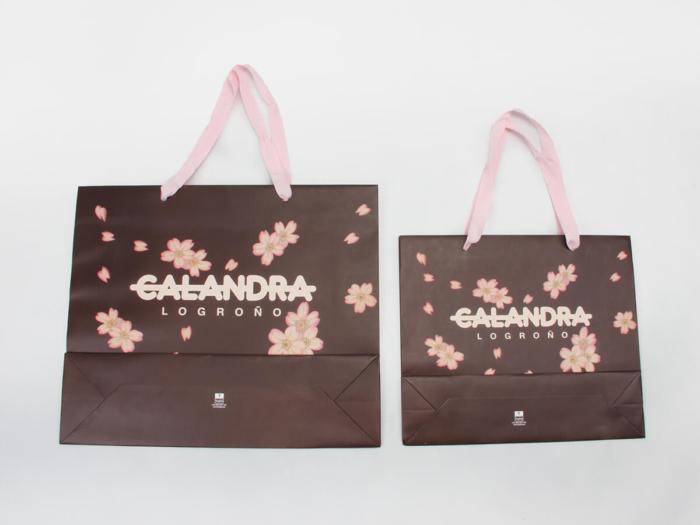 Flowers Women Garment Paper Bags Set Bottom Detail