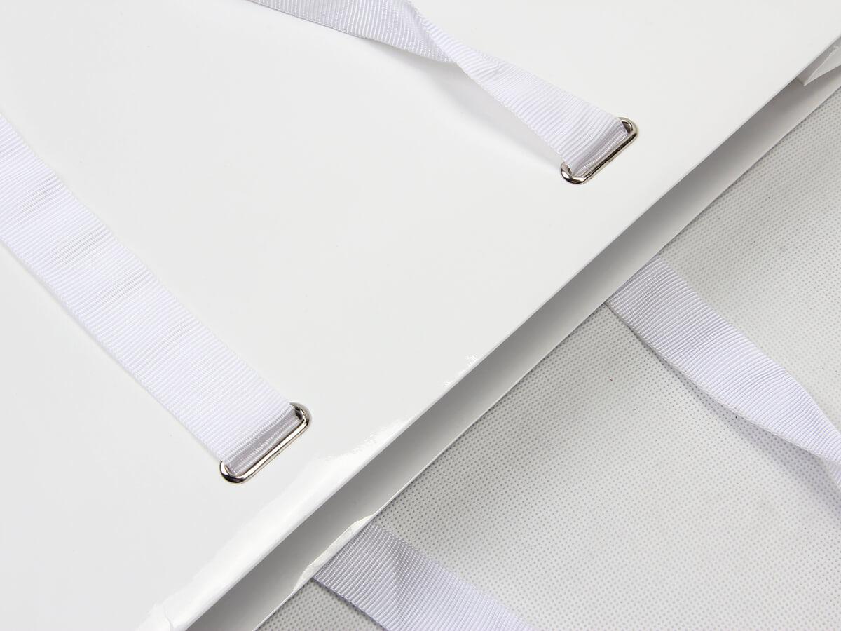 Garment Paper Bags With Ribbon Hoop Detail