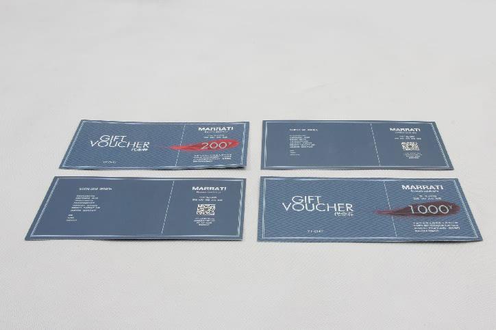 Garment Stores VIP Gift Vouchers Cards print