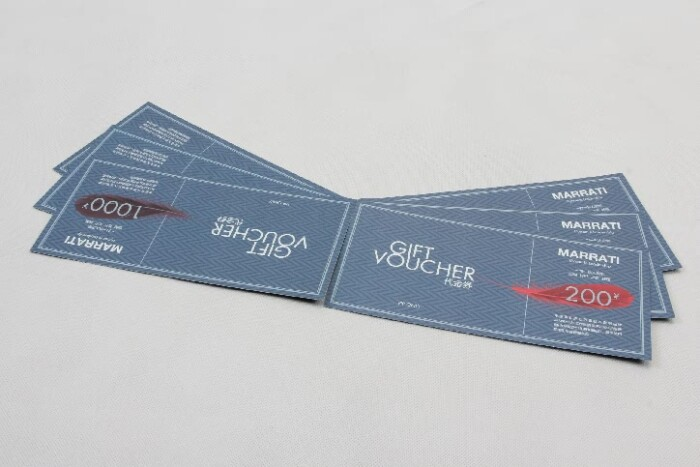 Garment Stores VIP Gift Vouchers Cards side
