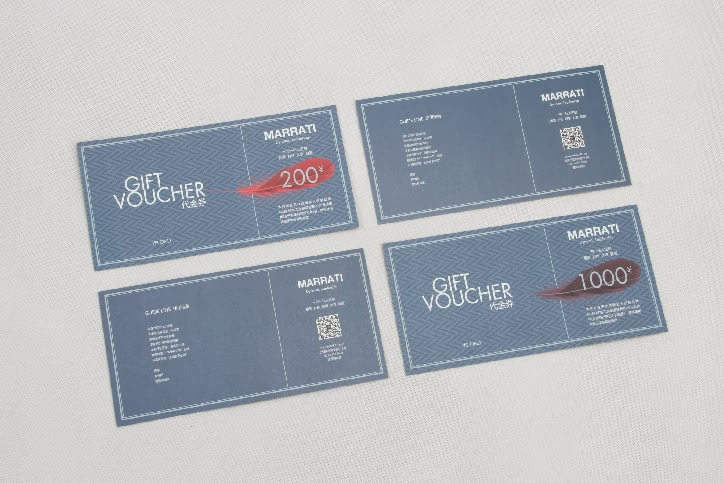 Garment Stores VIP Gift Vouchers Cards style