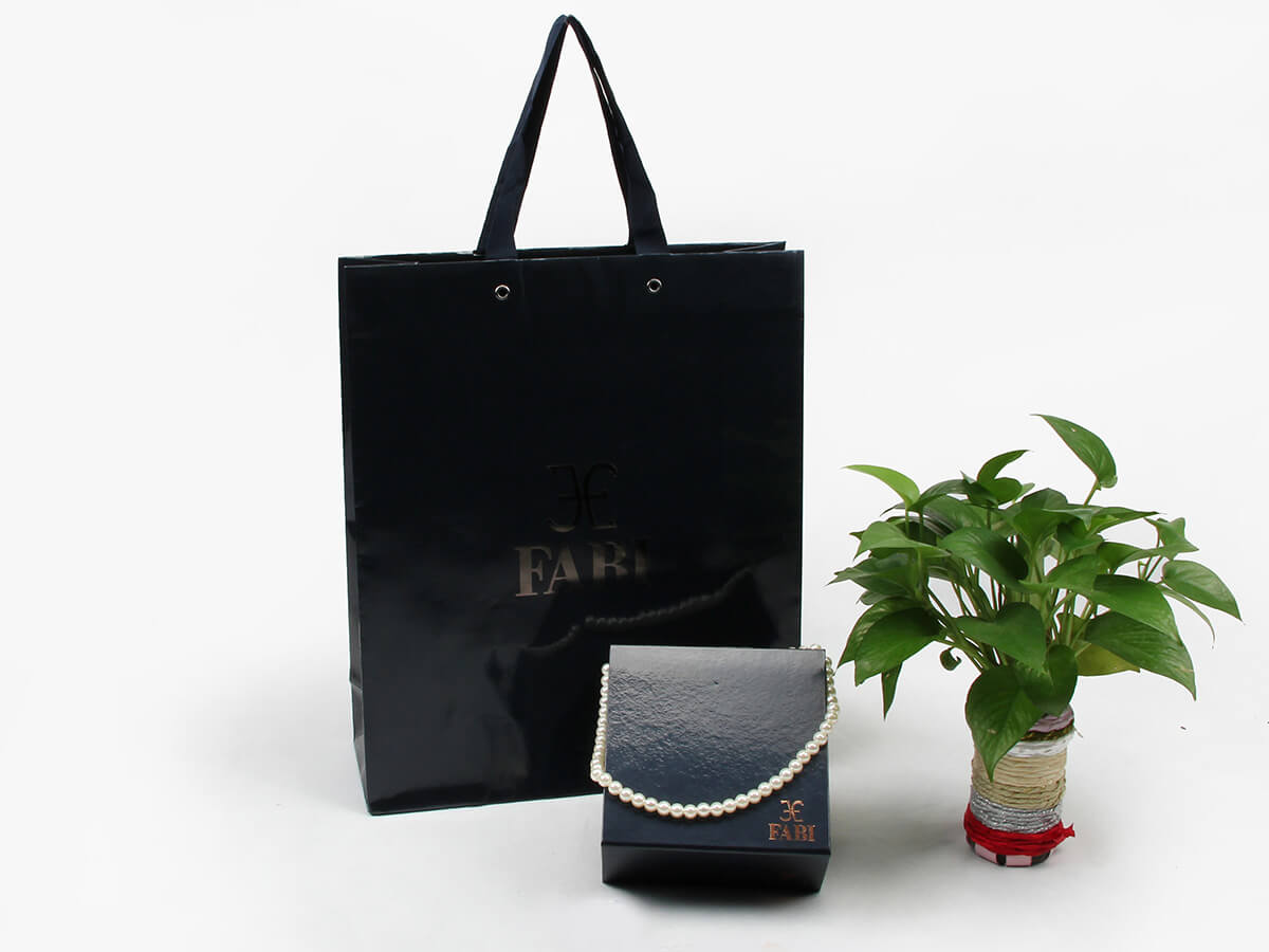 Gloss Black Jewelry Paper Shopping Bags
