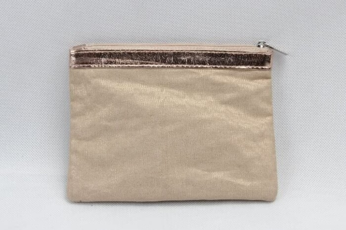 Gold Hot Stamped Spangly Canvas Cosmetic Bags base