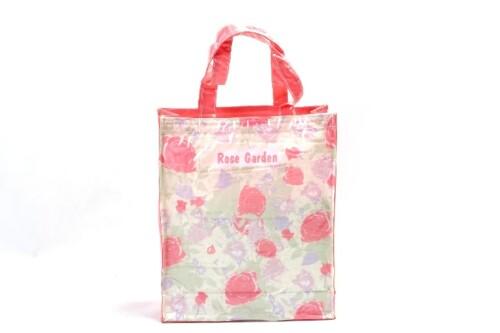 Heavy Duty Rose Garden Waterproof Pvc Tote Bags