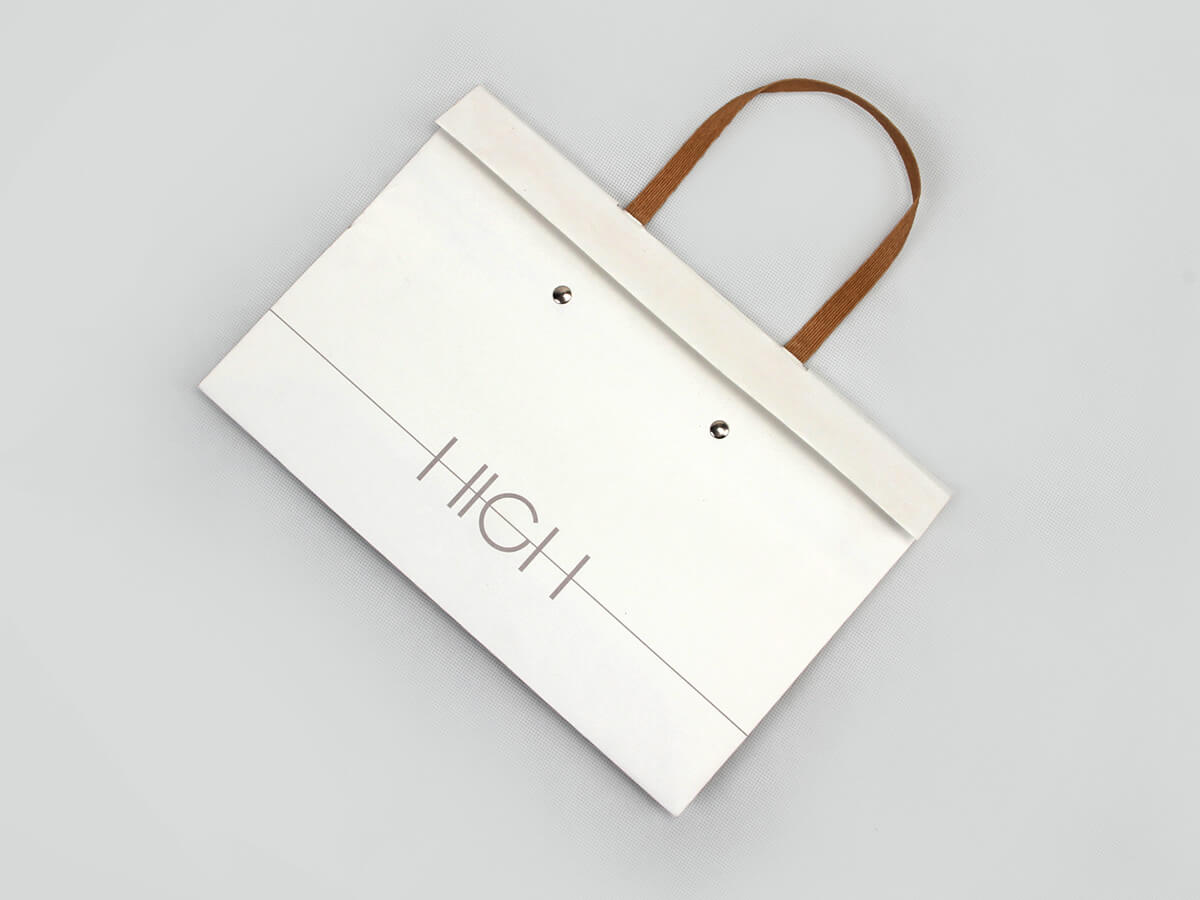 High end Gift Paper Bags Folding Way