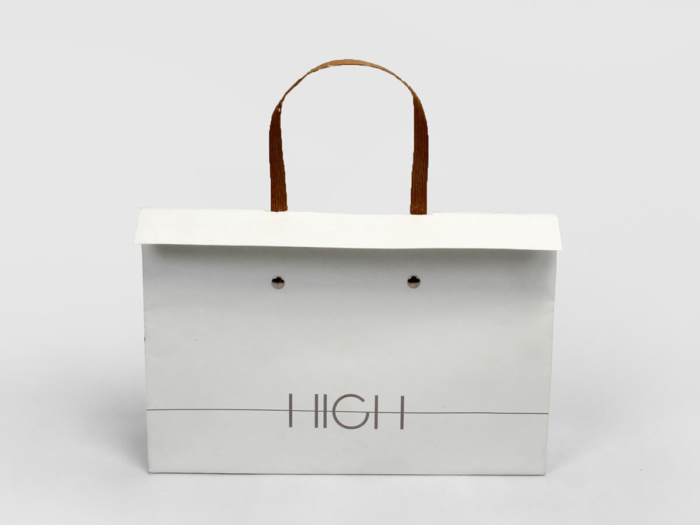 High end Gift Paper Bags LOGO Technique