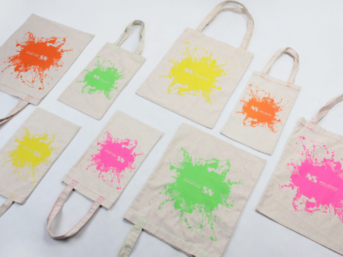 Inkjet Graffiti Linen Handle Bags