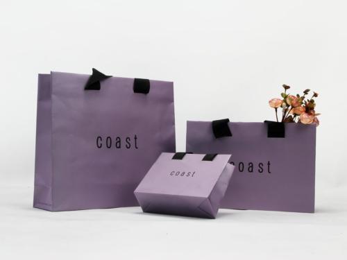Iridescent Paper Garment Shopping Bags Set