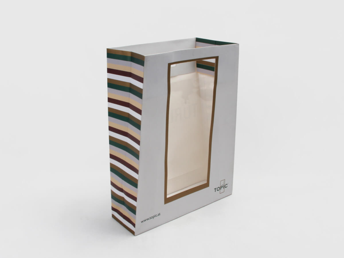 Kraft Gift Bags With Window