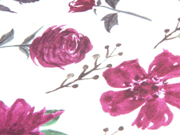 Large Purple Roses Gift Bags Printed