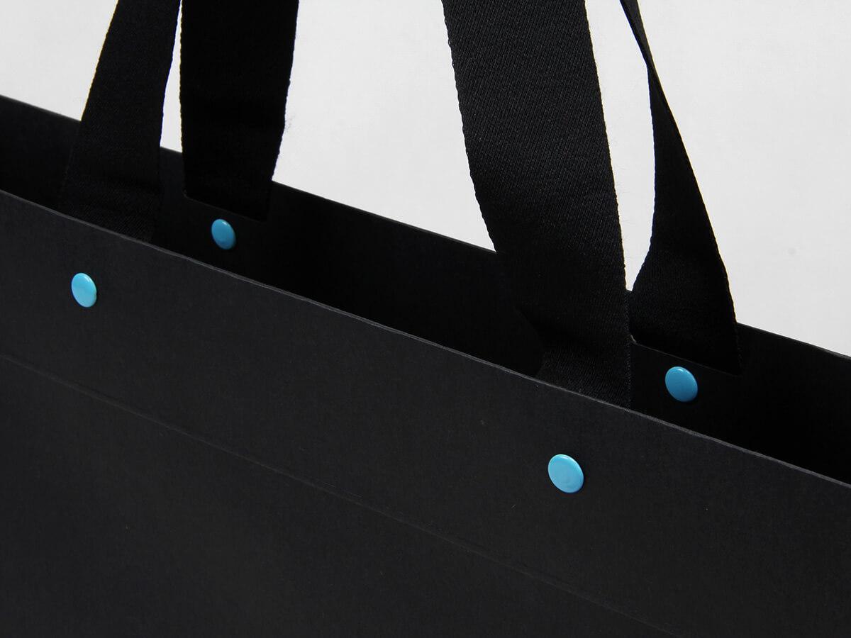 Leather Goods Shopping Bags Rivet Detail
