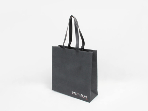 Leatherette Garment Paper Bags With Pvc Handles