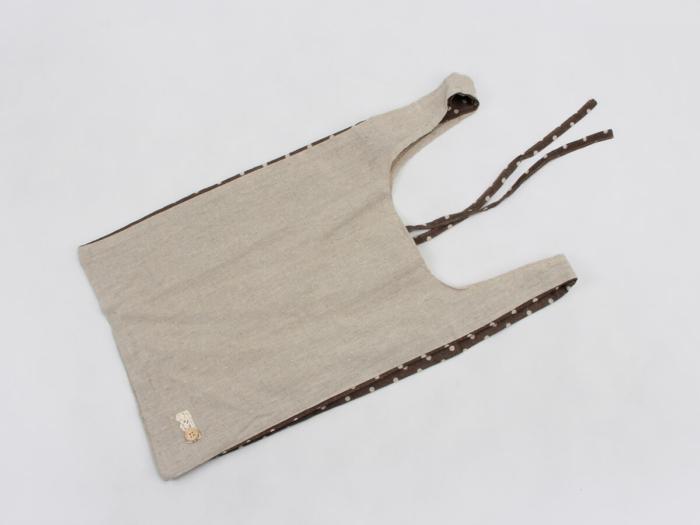 Linen Vest Carrier Bags Back Display
