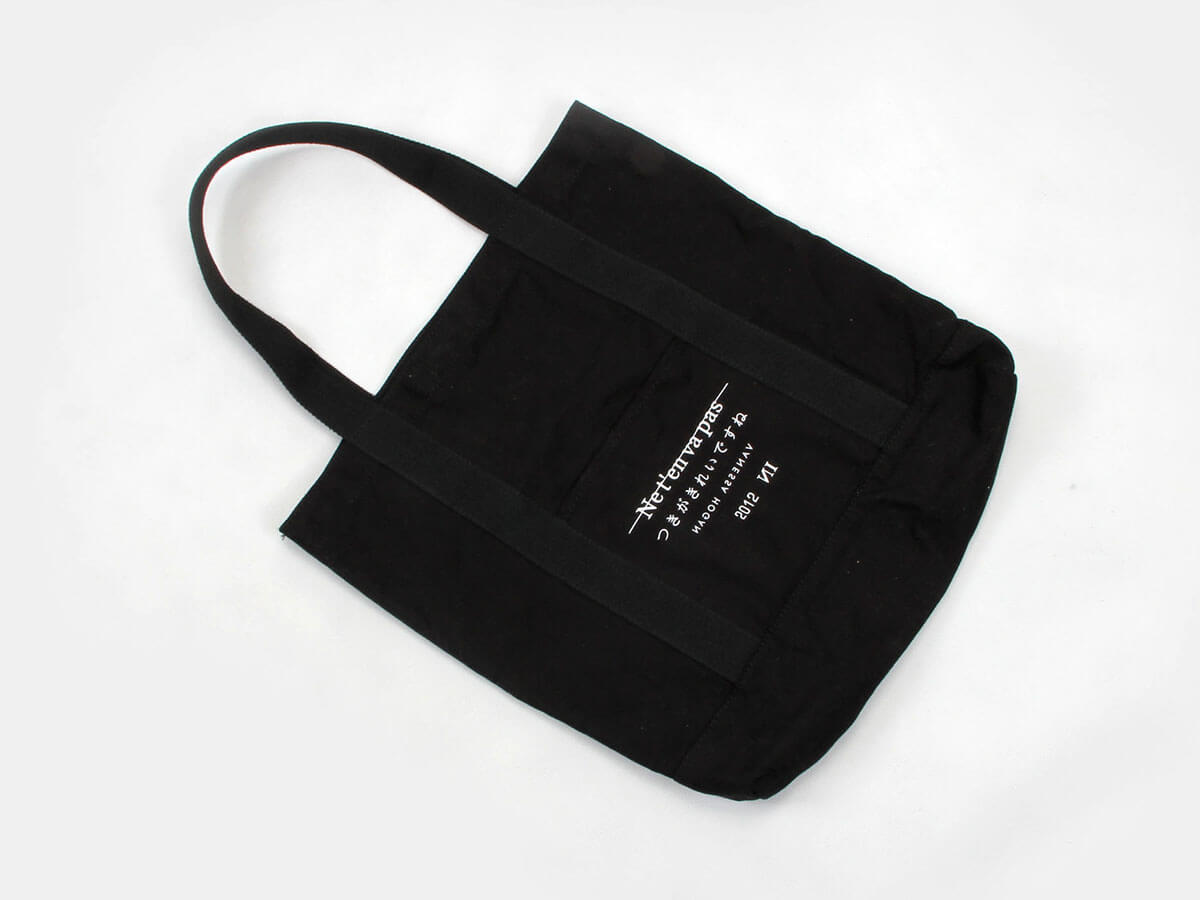 Long Hem Canvas Handle Bags Printed Detail