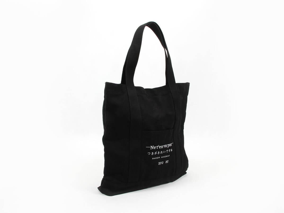 Long Hem Canvas Handle Bags Side Display