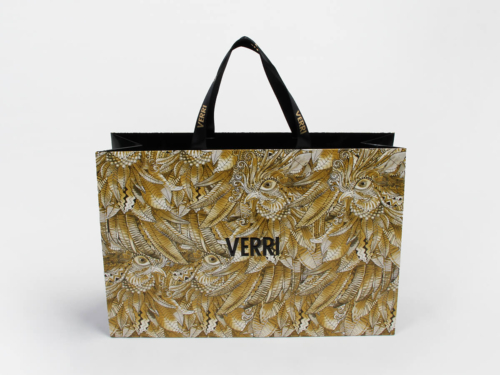 Luxury Garment Shopping Paper Bags With Full Printed