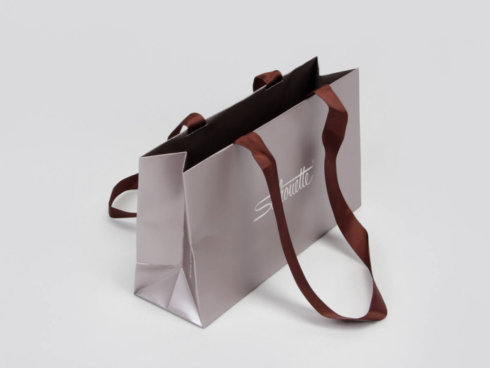 Luxury Gift Paper Bags Side Display