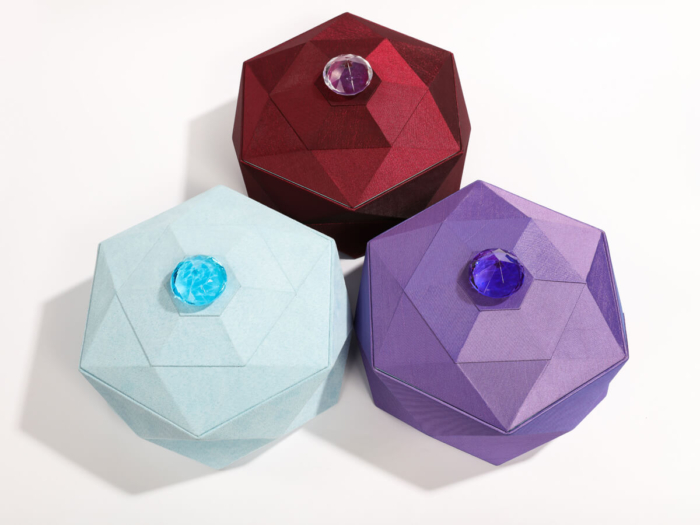 Luxury Tiara Jewelry Packaging Boxes Three Color