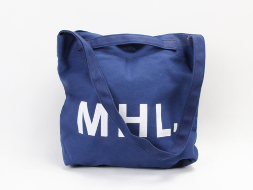 Navy Blue Canvas Shoping Bags