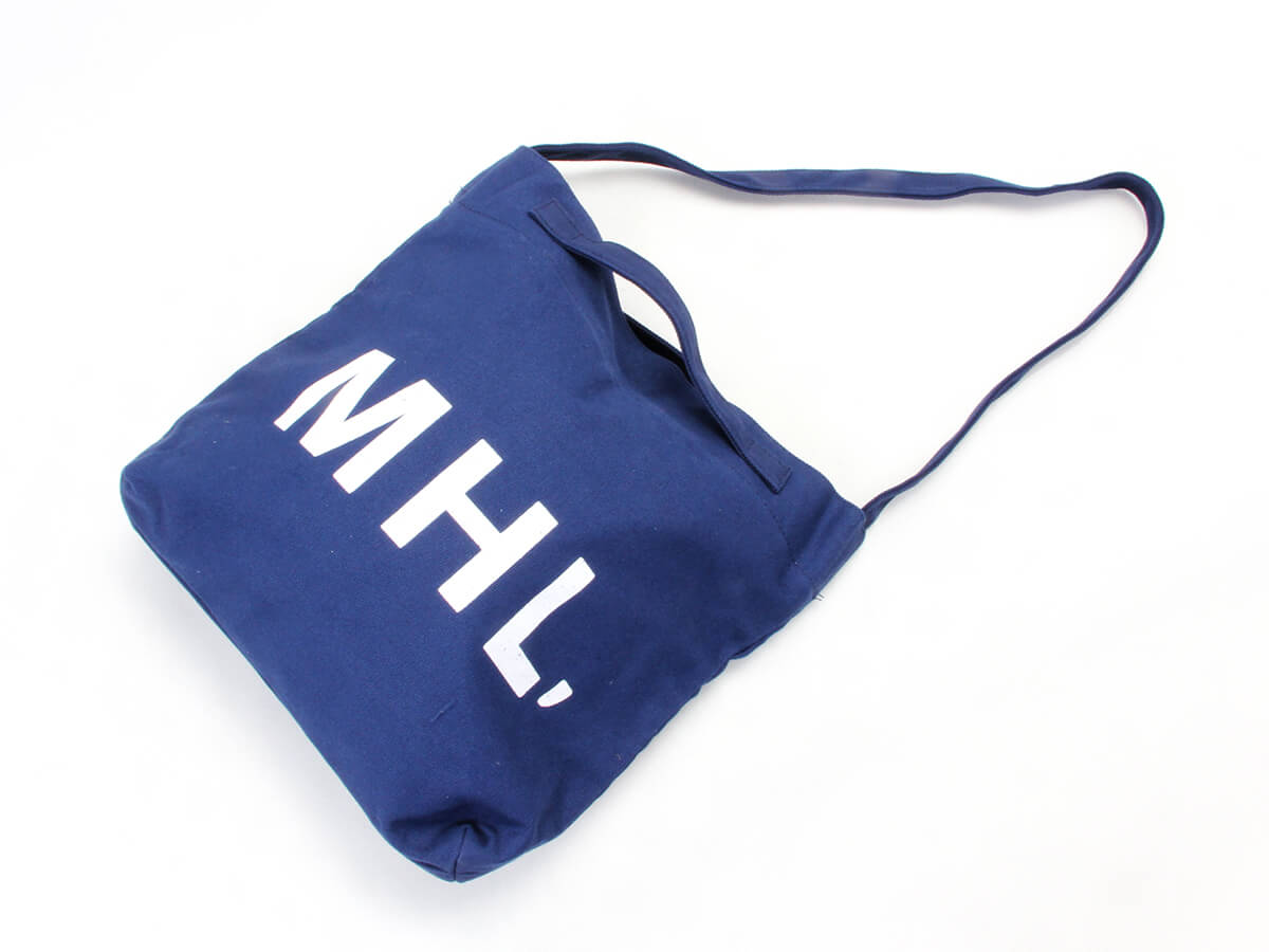 Navy Blue Canvas Shoping Bags Printed Display