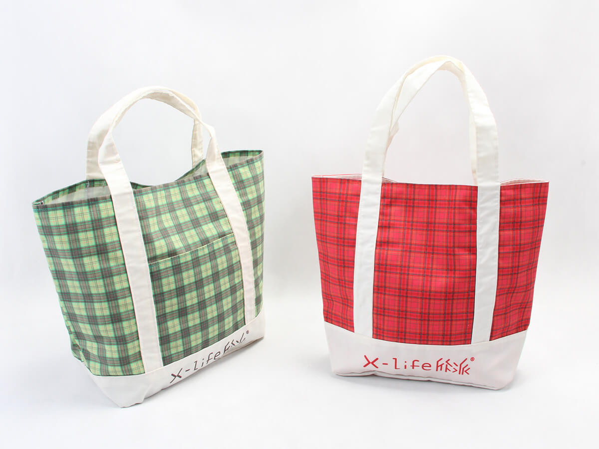 Newstep Desgine Checked Canvas Tote Bags