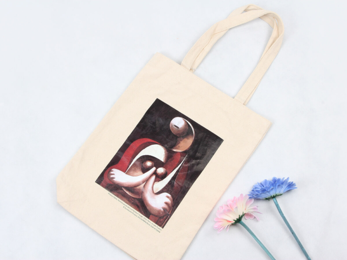 Oil Painting Grocery Canvas Tote Bags Printed Display