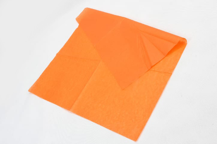 Orange Wrapping Cotton Tissue Paper detail