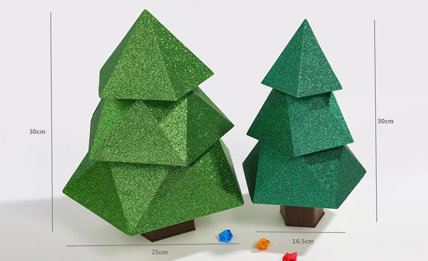 Original Christmas Tree Chocolate Packaging Boxes Size