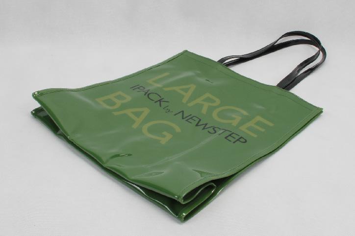 Original Glossy Green PVC Shopping Bags Side