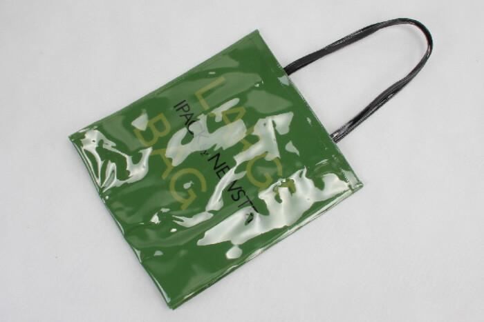 Original Glossy Green PVC Shopping Bags Technique