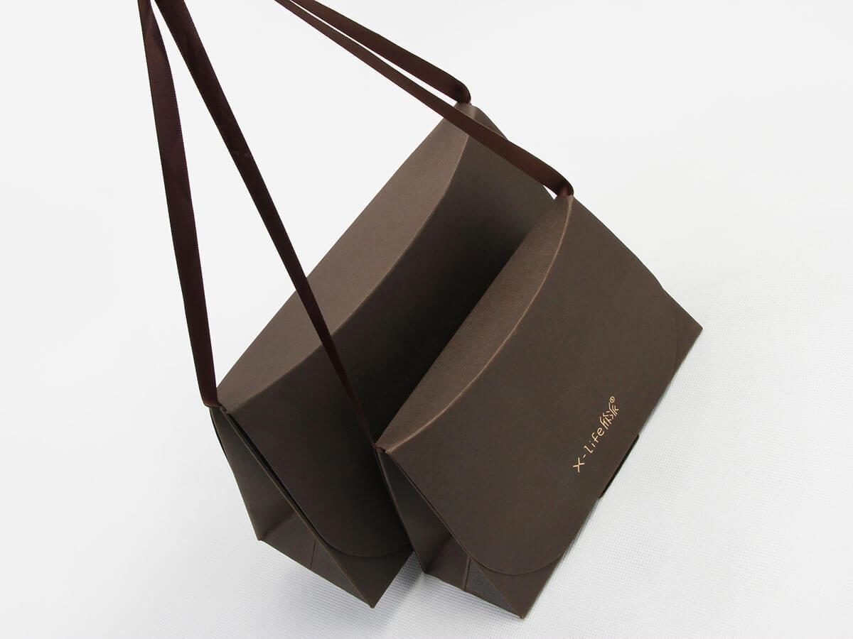Original Individuality Custom Paper Carry Bags Handle Detail