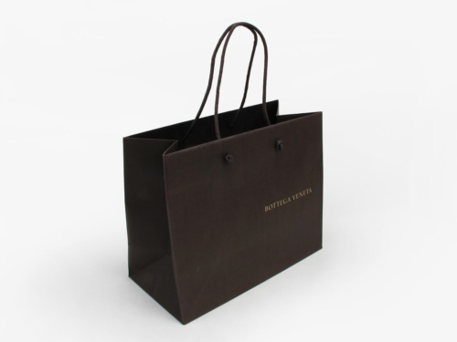 Outside Handle knotting Shopping Paper Bags