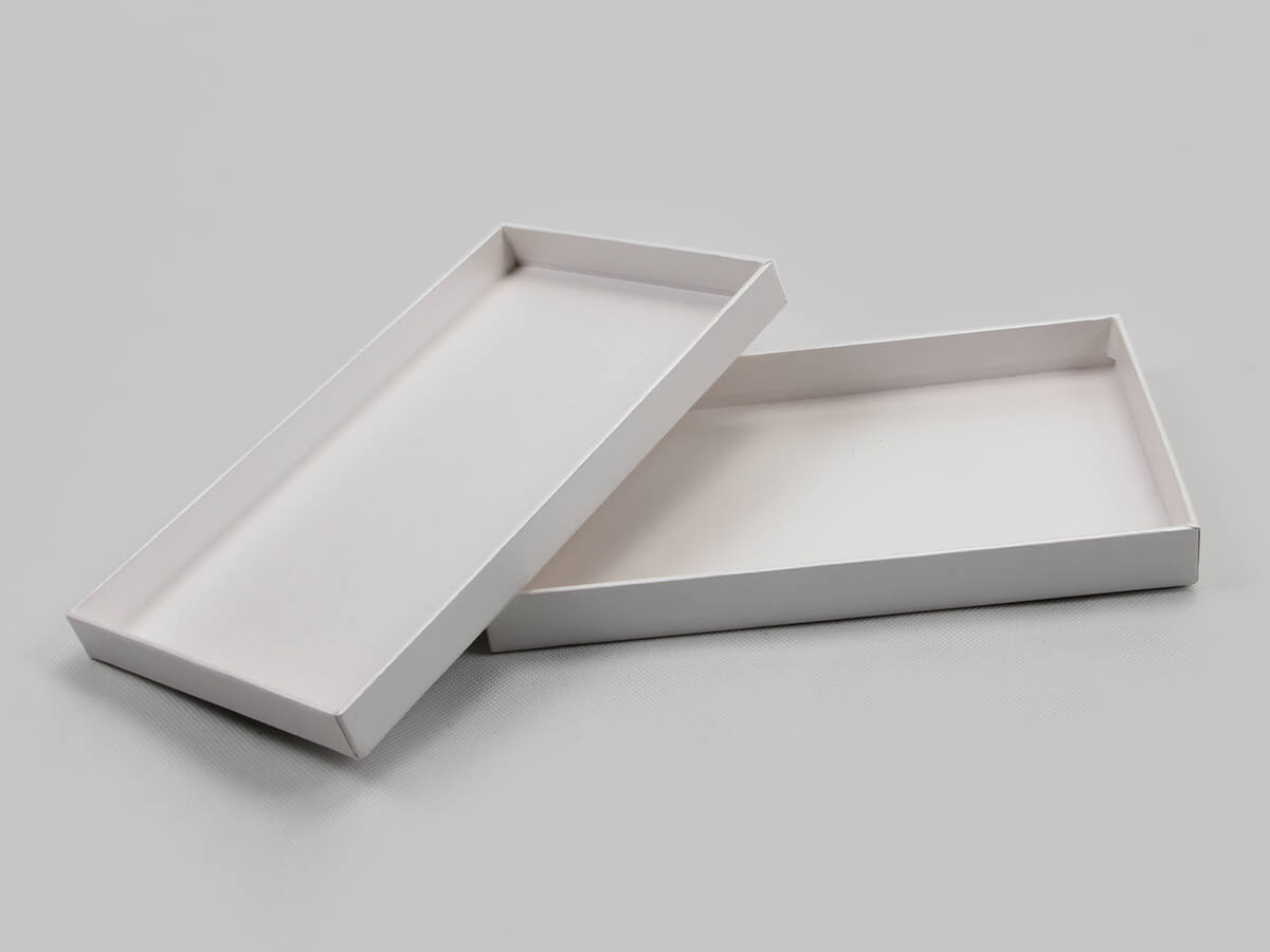Pearl White Blindfold Packaging Boxes Lid and Base Display